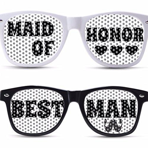 MAID OF HONOR AND BEST MAN custom wedding party glasses for weddings celebration wedding - Custom Wedding Sunglasses For
