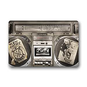 "Nymeria 19 Custom Vintage Music Radio Indoor/Outdoor Doormat 24""x16"" For GB-502"
