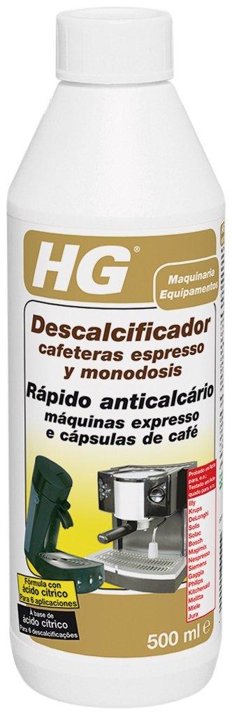 HG - Descalcificador para maquinas de cafe expreso, 500 ml: Amazon.es: Hogar