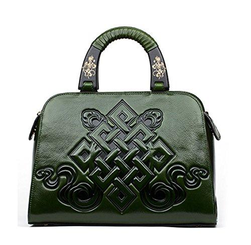 Keshi Leder Cool Damen Handtaschen, Hobo-Bags, Schultertaschen, Beutel, Beuteltaschen, Trend-Bags, Velours, Veloursleder, Wildleder, Tasche Grün 2