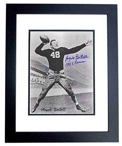 Angelo Bertelli Signed - Autographed Notre Dame Fighting Irish 8x10 inch Photo - Deceased 1999 - 1943 Heisman Trophy Winner - BLACK CUSTOM FRAME - Guaranteed to pass PSA or ()