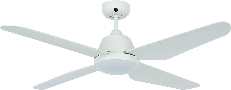 Ventilateur de plafond BALLOO 122 cm nickel avec éclairage et télécommande