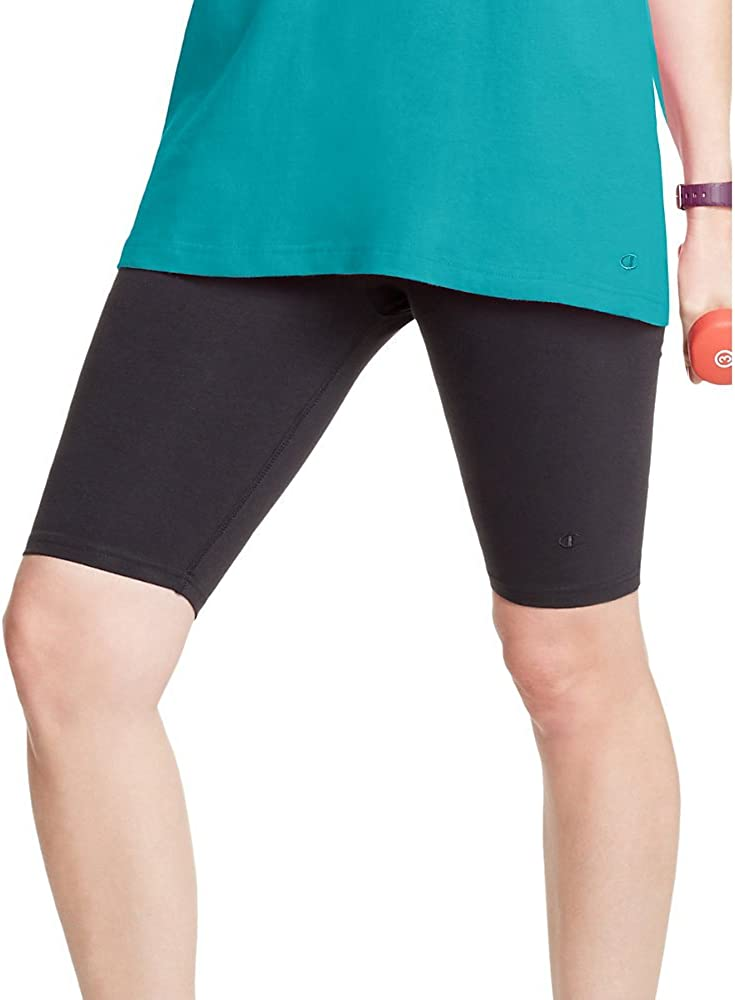 Champion Stretch-Cotton Fitted Womens Plus Shorts