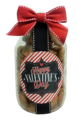 Nams Bits Choclate Chip Cookies Glass Jar - Happy Valentine's (Choclate Chip Cookies)