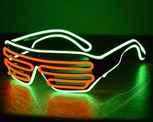Neon Glasses LED Sunglasses Light Up Costumes Glow in Dark Party Green/Red