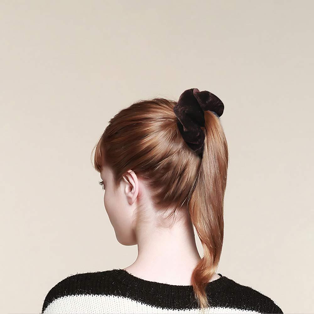 Elastici per capelli per donne e ragazze colori assortiti morbidi ed eleganti accessori per capelli 20 pezzi in velluto