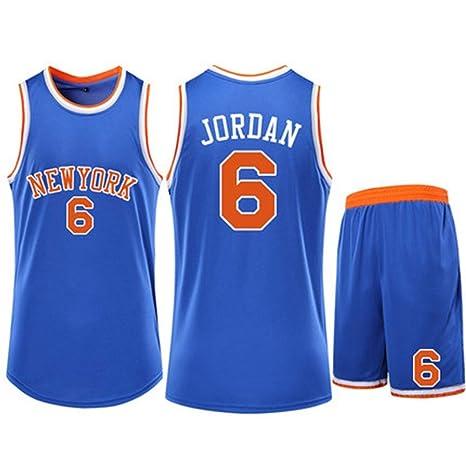 CCKWX New York Knicks # 6 Deandre Jordan Baloncesto Jersey ...
