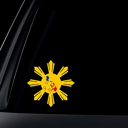 Philippine flag sun star island car decal stickers