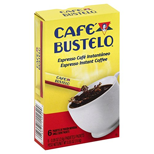Café Bustelo Instant Coffee Single Serve Packets, 6 Count (Pack of 12)