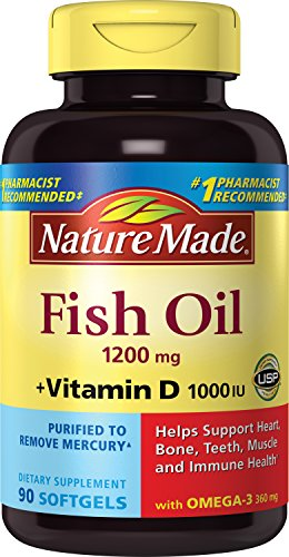 Compare price nature made cod liver oil on for Side effects of fish oil supplements