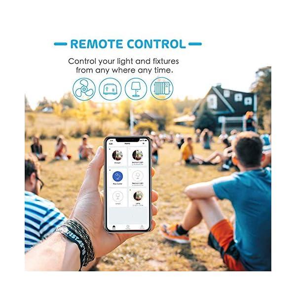 Presa Intelligente Wifi Smart Plug Spina Wireless 16A 3680W, Funzione Timer, Compatible con SmartThings, Alexa, Google… 4 spesavip