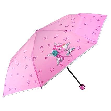 Paraguas Plegable Niña Unicornio - Paraguas Infantil ...