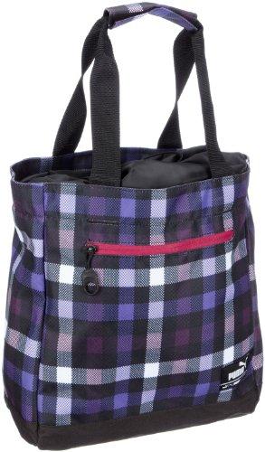 Puma Foundation Borsa a mano shopper Karo, Shadow Purple Purple Opulence Check, 06911804