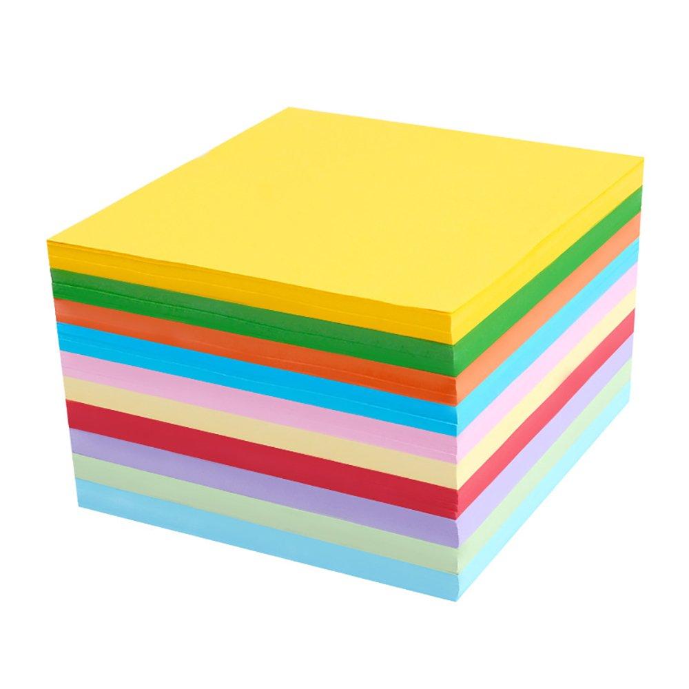 Alxcio Carta da Origami - 800 Fogli Carta per Origami Colorati Tradizionale Piegatura Della Carta per Origami per Bambini ed Adulti Colori Assortiti