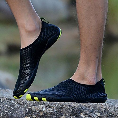 Pantofole Water Ciabatte Giardini DoGeek Sandali da Sandali Donna Spiaggia Scarpe Acqua Scarpe Pelle Giallo Scarpe Shoes Uomo 7IIZwqd0