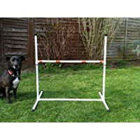 Freestanding dog agility jump with fully adjustable height. (due to amazons new postage policy we can only post this item to mainland uk (England, Wales, and Scotland only))