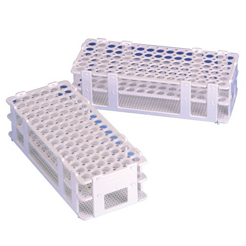 Bel-Art F18745-0023 Indexed Test Tube Rack; 10-13mm, 90 Places, Standard Numbering, 9³/₄ x 4¹/₈ x 2³/₁₆ in., Polypropylene by SP Scienceware