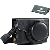 MegaGear Ever Ready Leather Camera Case - Easy to Install, Tripod and Peripheral Friendly Accessory - Compatible with Panasonic Lumix DC-ZS70, DC-TZ90