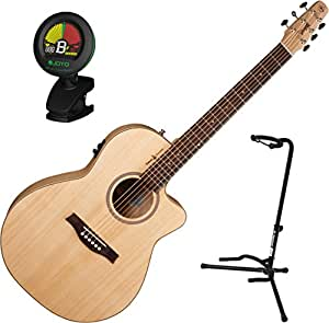 seagull 036479 amber trail cw folk t35 acoustic electric guitar w stand and tuner. Black Bedroom Furniture Sets. Home Design Ideas