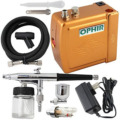 New 12V DC 0.3mm Dual-Action Airbrush Kit Air Compressor for Nail Art Makeup Tattoo by HJLHYL