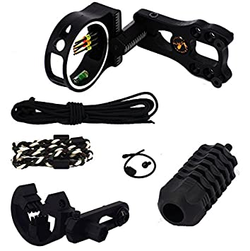 5 Pin Compound Bow Sight /& Light Bow And Arrow Equipment Archery Accessories