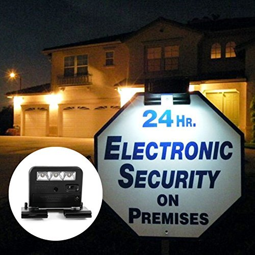 Premium Quality Solar Powered Clip On LED Light for Yard Sign - 3 LEDs - Durable & Weather-Proof Plastic Housing - Ideal for Decks, Handrails, Stairways, Trims, Porches - Screw Brackets Included (Clip Powered On Solar Lights)