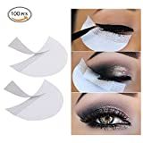 Image of LKE 100 Pcs Eyeshadow Shields Professional Lint Free Under Eye Eyeshadow Gel Pad Patches For Eyelash Extensions/Lip Makeup