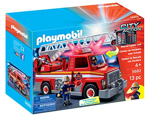 PLAYMOBIL Rescue Ladder Unit (Fell In Love In A Cop Car)