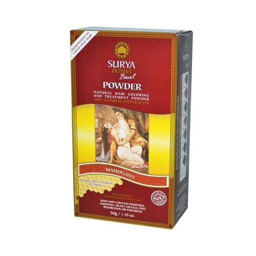 Surya Brasil Henna - Polvo de caoba (50 g), color marrón SUH-70031