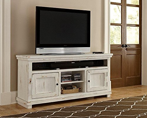 tv console distressed - 3