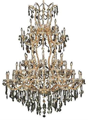 Karla Golden Teak Traditional 85-Light Grand Chandelier Heirloom Handcut crystal in Golden Teak-2380G96GT-GT-RC--72