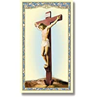Holy Cards Religious Jesus Christ Crucifixion, Pack of 100