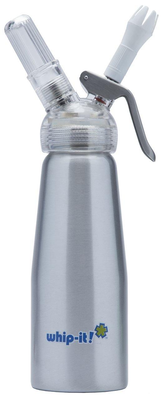 United Brands 1/2-Litre Brushed Silver Whip Cream Dispenser SVPLUS-41