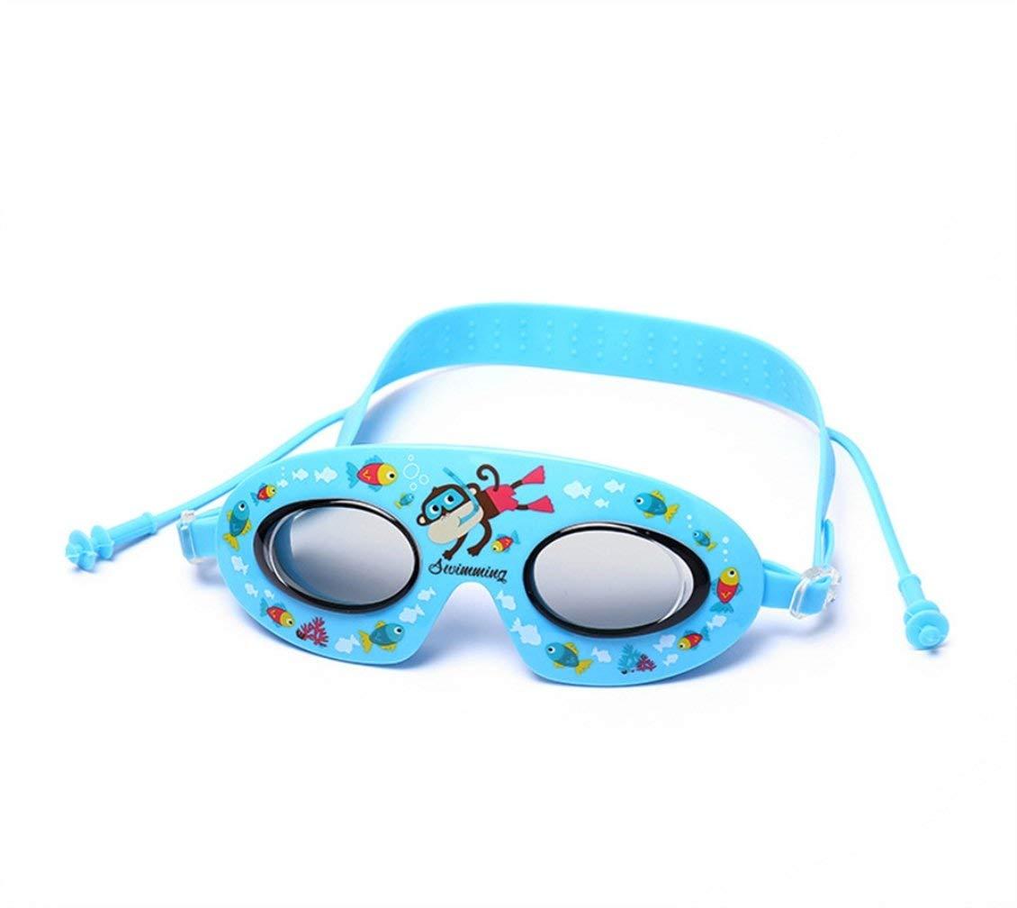 FOOBRTOPOO Occhiali da Nuoto Swim Goggles Occhiali da Nuoto per Bambini Baby Cartoon Anti-Fog Goggles /è Troppo Loli Kawai Colore : Blu LUHUIYUA Progettato per Adulti e Bambini Blu