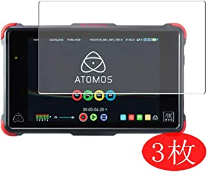 """【3 Pack】 Synvy Screen Protector for ATOMOS Ninja Flame 7"""" TPU Flexible HD Clear Case-Friendly Film Protective Protectors [Not Tempered Glass]"""
