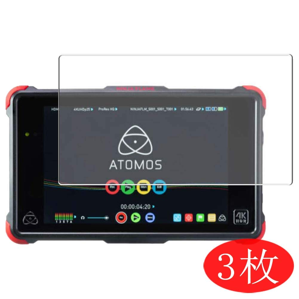 "【3 Pack】 Synvy Screen Protector for ATOMOS Ninja Flame 7"" TPU Flexible HD Clear Case-Friendly Film Protective Protectors [Not Tempered Glass] New Version"