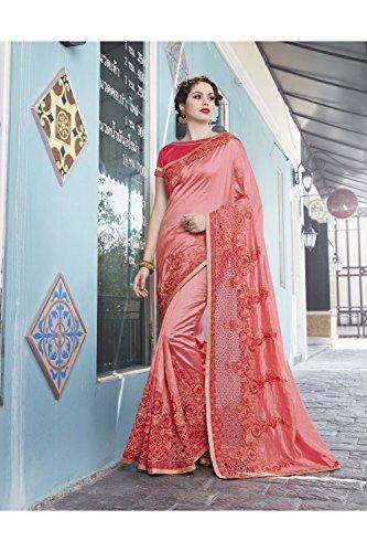 Traditional Indian Sari 115 Wear Da Peach Facioun Sarees Designer Ethnic Women Party For Wedding TvPUwq5