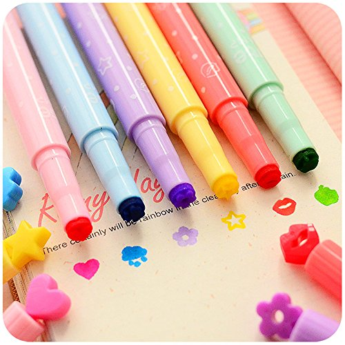 Go Cart Go 36 pcs/Lot Cute Stamp Highlighter Marker Pen for Reading DIY Scrapbooking Stationery Material escolar by Go Cart Go (Image #2)