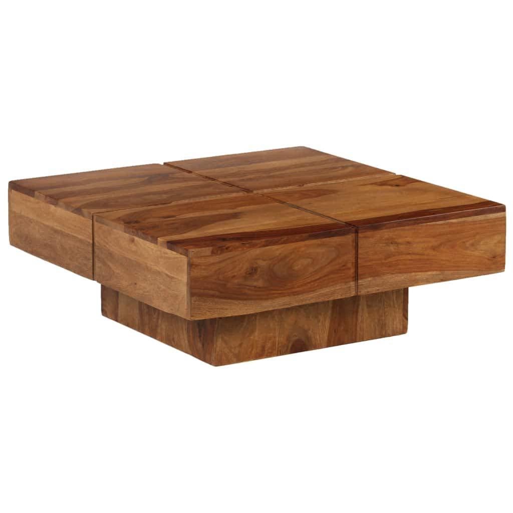 Tavolino da Salotto in Legno Massello di Sheesham 80x80x30 cm Tavolino da caff/è Festnight