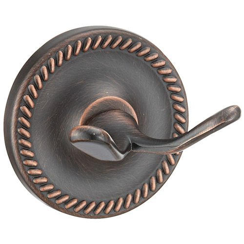 Designers Impressions Naples Series Oil Rubbed Bronze Double Robe Hook