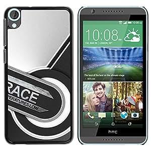 EJOY---Cubierta de la caja de protección la piel dura para el / HTC Desire 820 / --Carrera Resumen