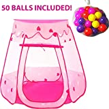 Playz Ball Pit Princess Castle Play Tents for Girls w/ Glow in The...