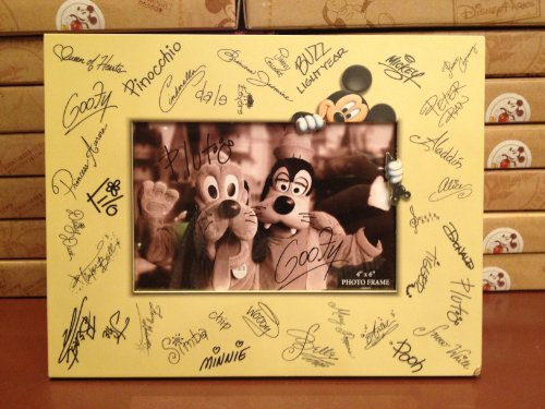 Disney Parks Character Signature 4x6 Photo Frame - Disney Parks Exclusive & Limited Availability