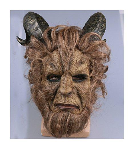 [FangLanz Halloween Beast Mask Cosplay Costume Prop for Casual Tangerine Mask] (Mens Beast Halloween Costume)