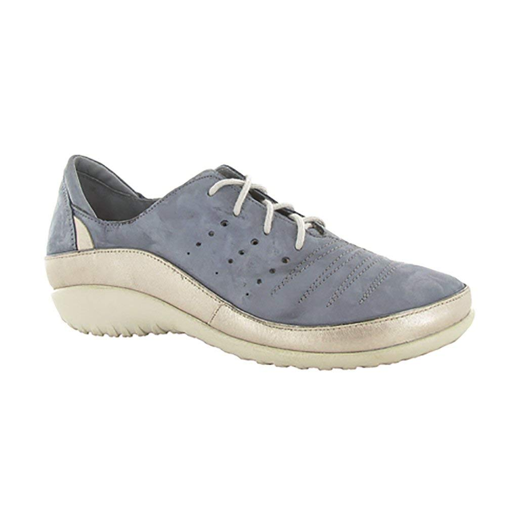 NAOT Women's Kumara Feathery Blue Nubuck/Stardust Leather 38 M EU