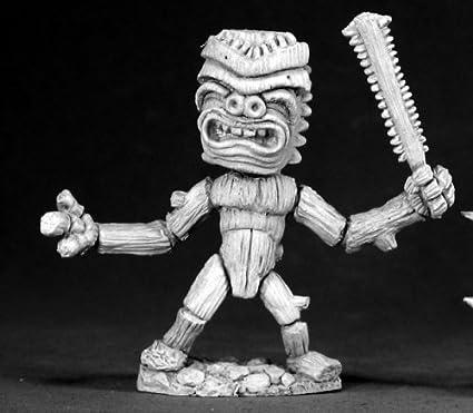 Amazoncom Reaper Miniatures Tiki Wood Golem 02598 Dark Heaven