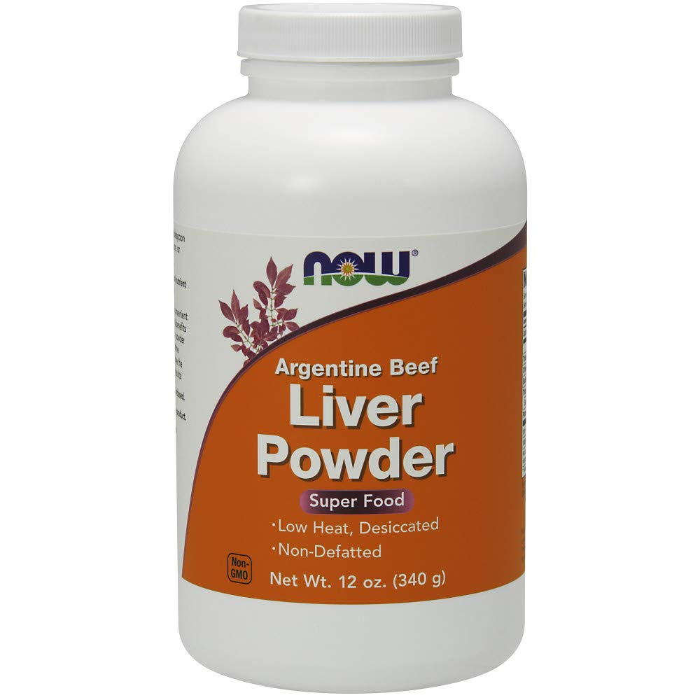 Now Supplements, Liver Powder derived from Fresh, Hormone-Free Argentine Beef Liver, 12-Ounce by NOW Foods