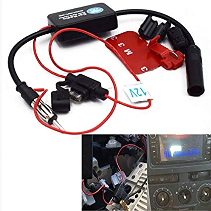 12V Car Truck Stereo Antenna FM AM Radio Inline Signal Amp Amplifier Booster