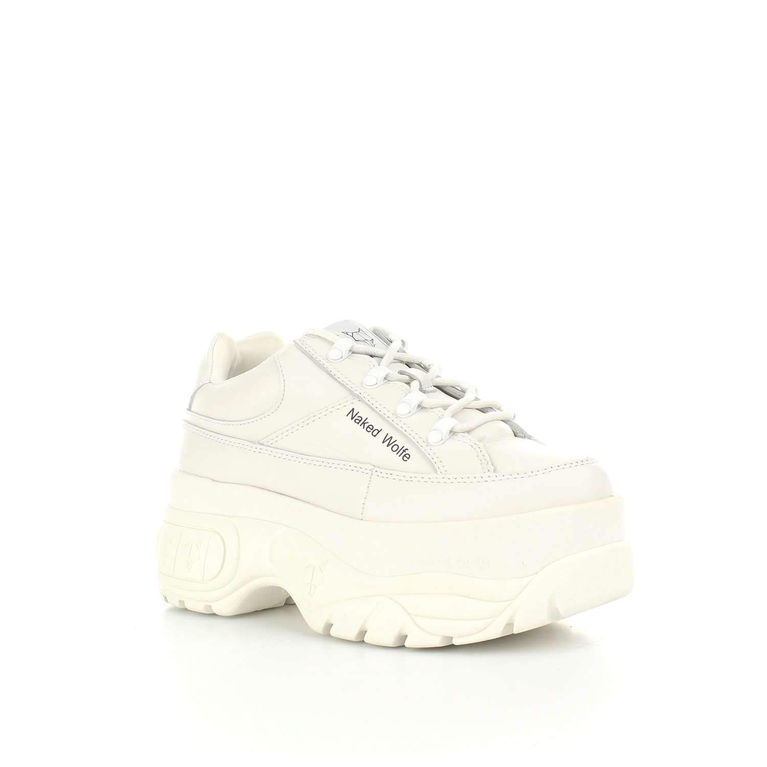 Amazon.com | NAKED WOLFE Low Womens Shoes with Sporty Platform Size 40 White | Hiking & Trekking