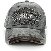 Handcuffs Stylish Cotton Baseball Adjustable Black Cap for Men/Women (BFVCU92)